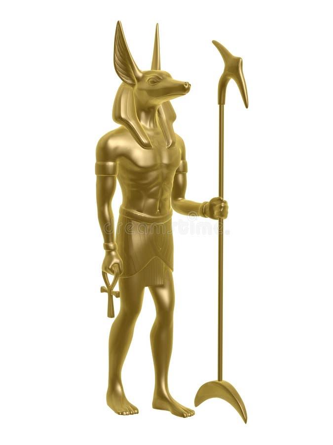 Anubis dorati royalty illustrazione gratis