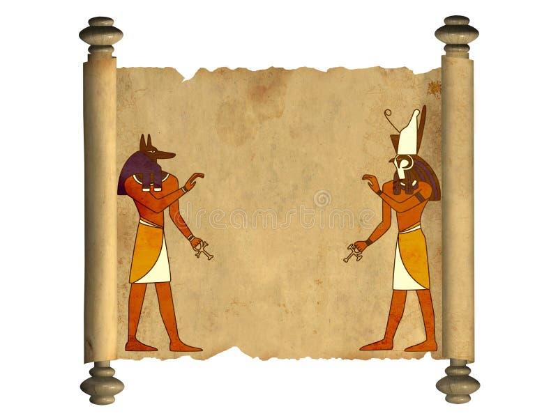 Anubis e Horus illustrazione vettoriale