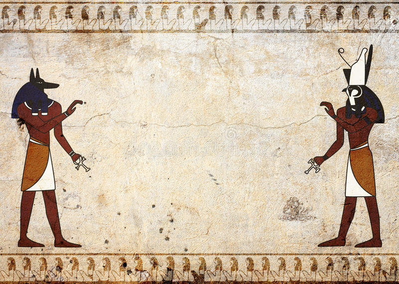Anubis e Horus royalty illustrazione gratis