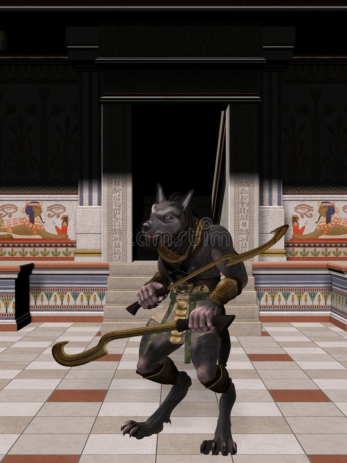 anubis egipski fantazi potwór ilustracji