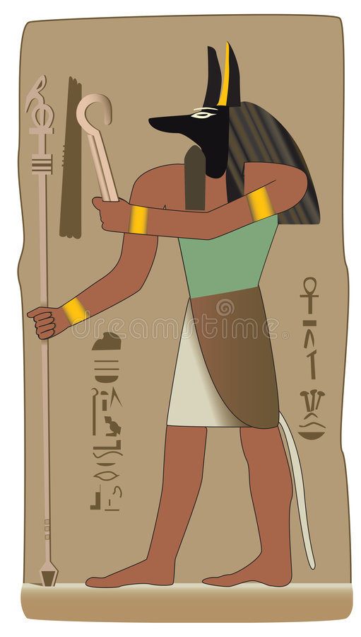 Download Anubis Egyptian God In Vector With Egyptian Symbol Stock Vector - Image: 8678458