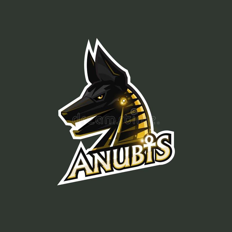 Anubis esport logo royalty ilustracja