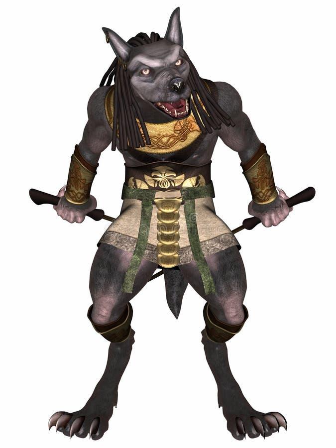 Anubis-Fantasie Ägypter-Monster vektor abbildung