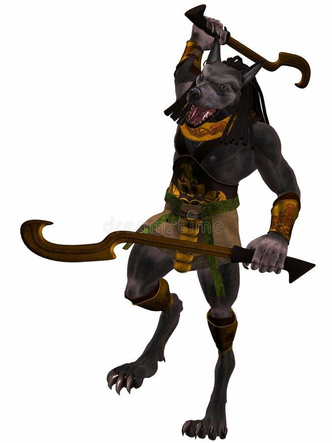 Anubis-Fantasie Ägypter-Monster stock abbildung