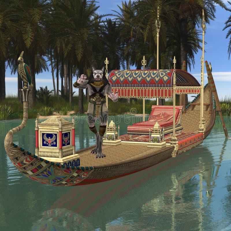 Anubis-fantasie Egyptisch Monster royalty-vrije illustratie