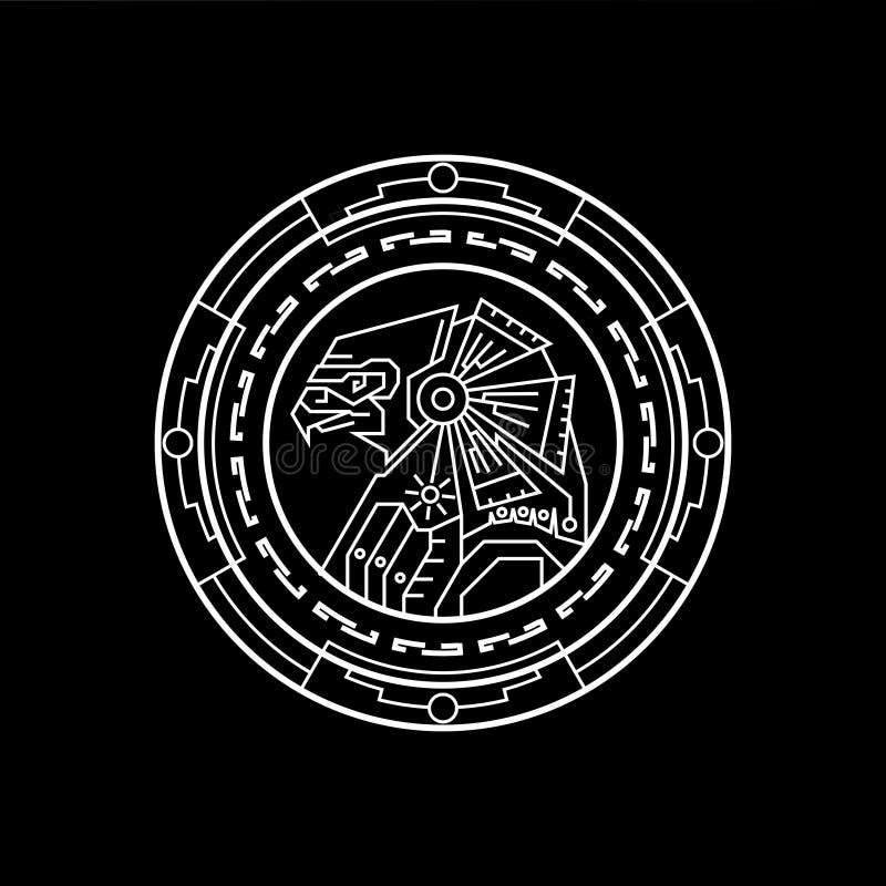 Anubis geometrilinje vektor illustrationer