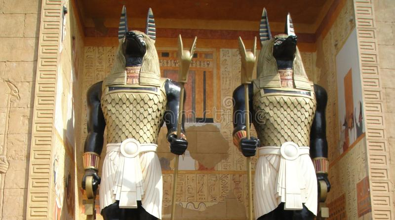 Anubis - God of the dead. Also known as Anpu. It is the ancient Egyptian god of mummification and afterlife. Anubis is depicted as muscular man with head of a stock image