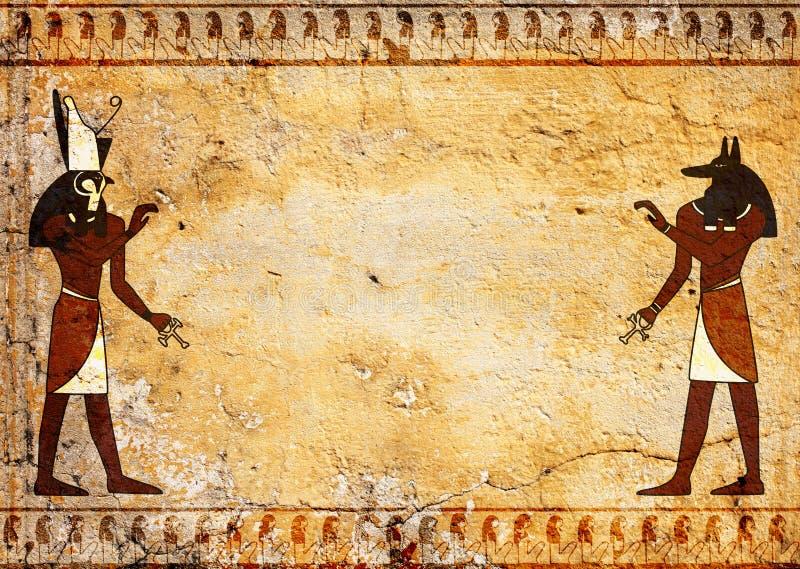 Anubis i Horus royalty ilustracja
