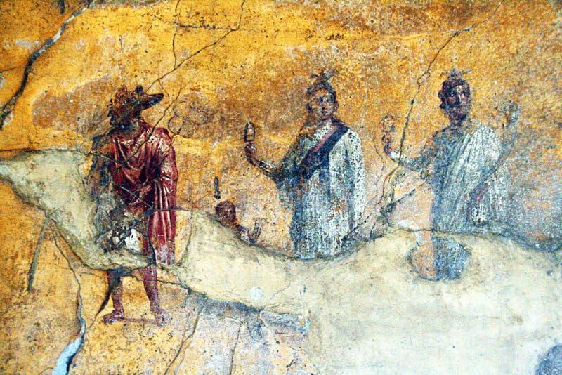 Anubis i pompeii royaltyfria bilder