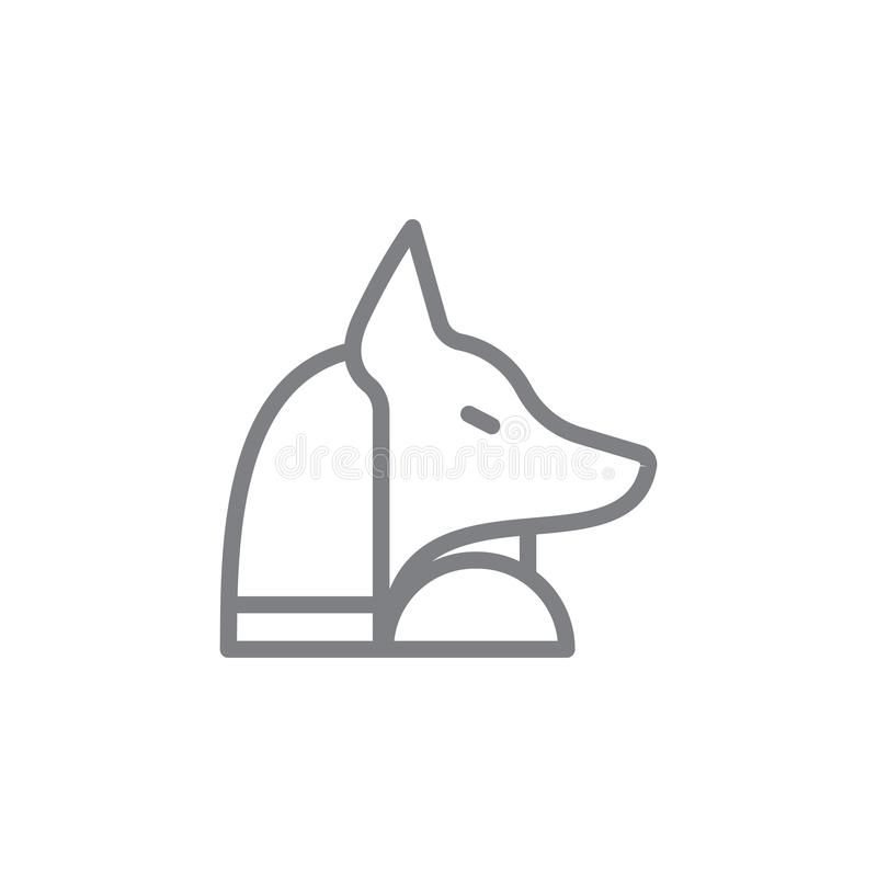 Anubis icon. Element of myphology icon. Thin line icon for website design and development, app development. Premium icon vector illustration