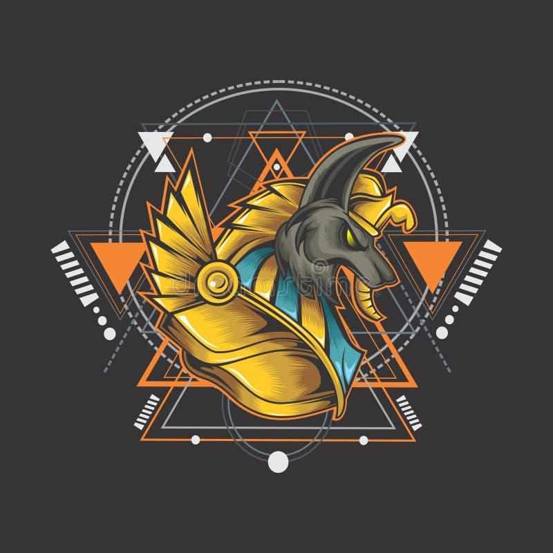 Anubis poderosos del poder stock de ilustración