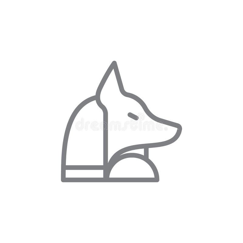 Anubis symbol Best?ndsdel av myphologysymbolen Tunn linje symbol f?r websitedesignen och utveckling, app-utveckling h?gv?rdig sym vektor illustrationer