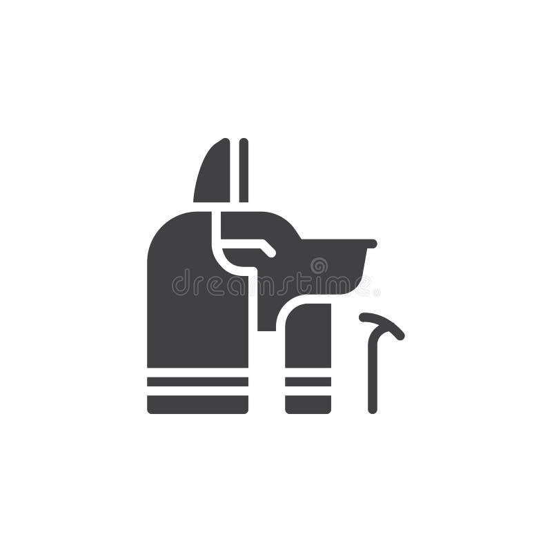 Anubis wektoru ikona ilustracji