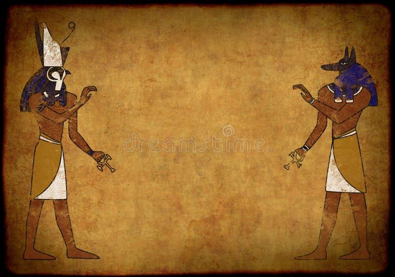 Anubis y Horus stock de ilustración