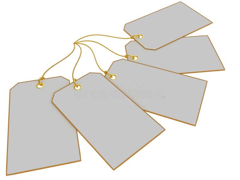 Anule as etiquetas isoladas no fundo branco ilustração royalty free