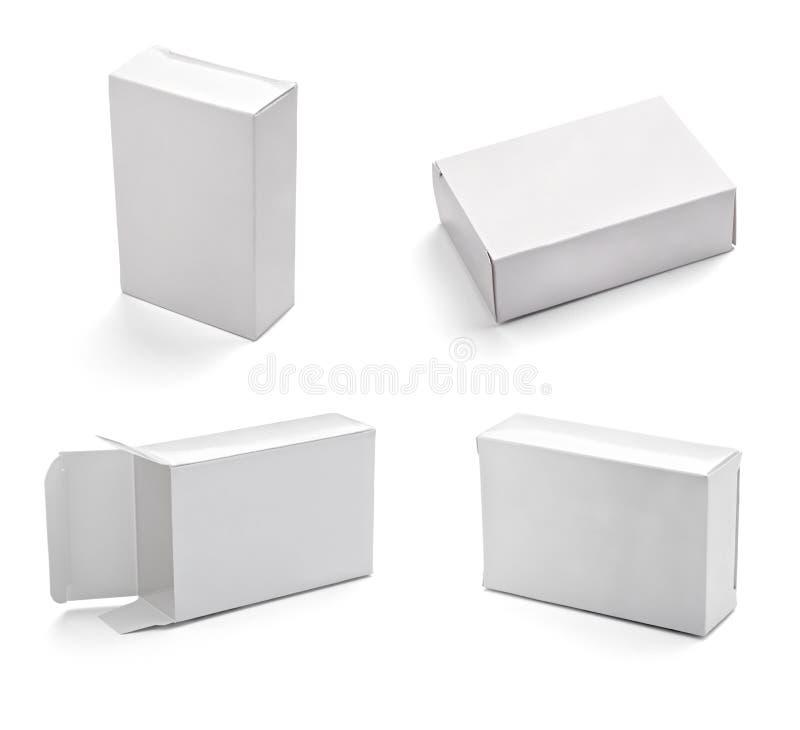 Anule a caixa branca ilustração stock