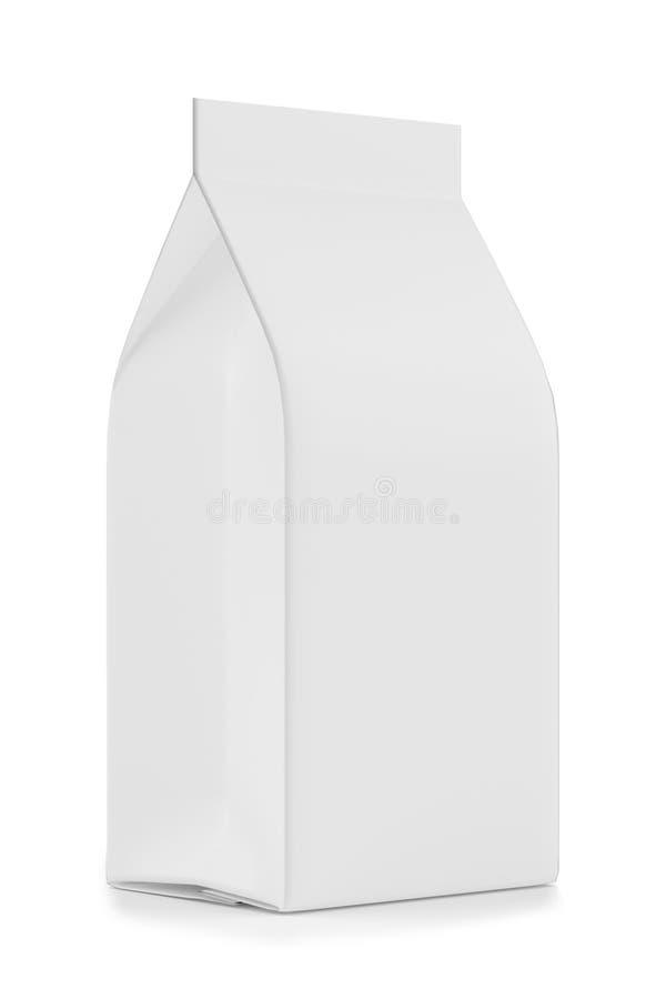 Anule caixas Modelo do pacote de varejo Isolado no branco rendição 3d imagem de stock