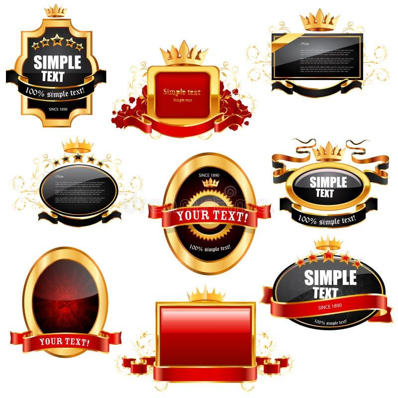 Anule etiquetas e emblemas ilustração do vetor