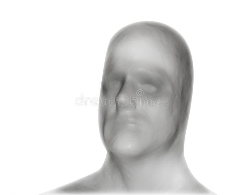 Anule a máscara protectora branca da identidade fotos de stock