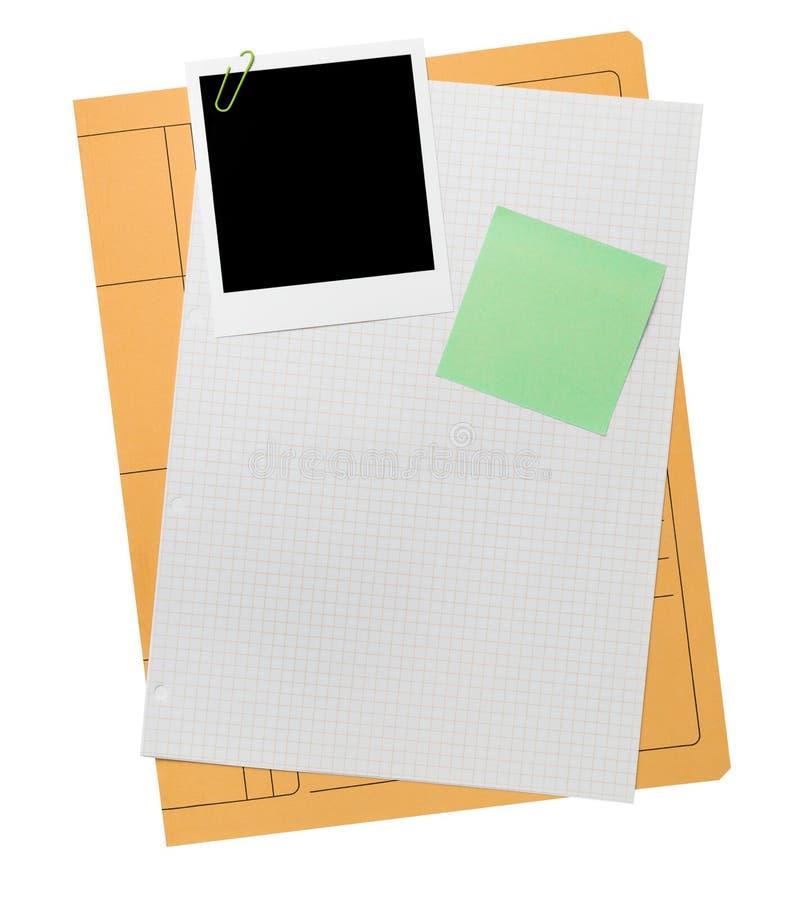 Anule o índice da pasta de ficheiros foto de stock