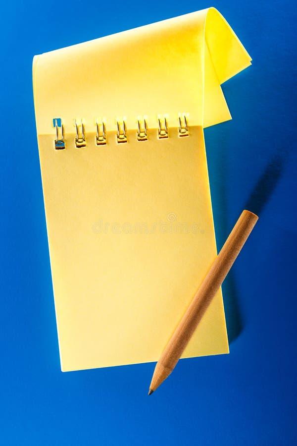 Anule o caderno aberto imagem de stock