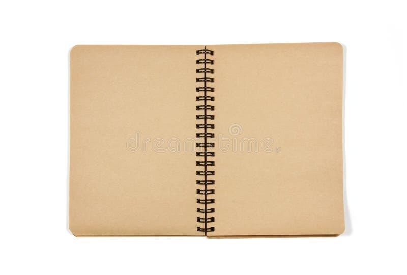 Anule o caderno aberto fotografia de stock royalty free
