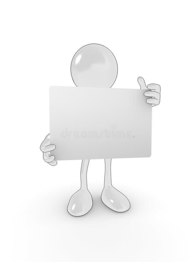 Anule o caráter de sinal ilustração stock