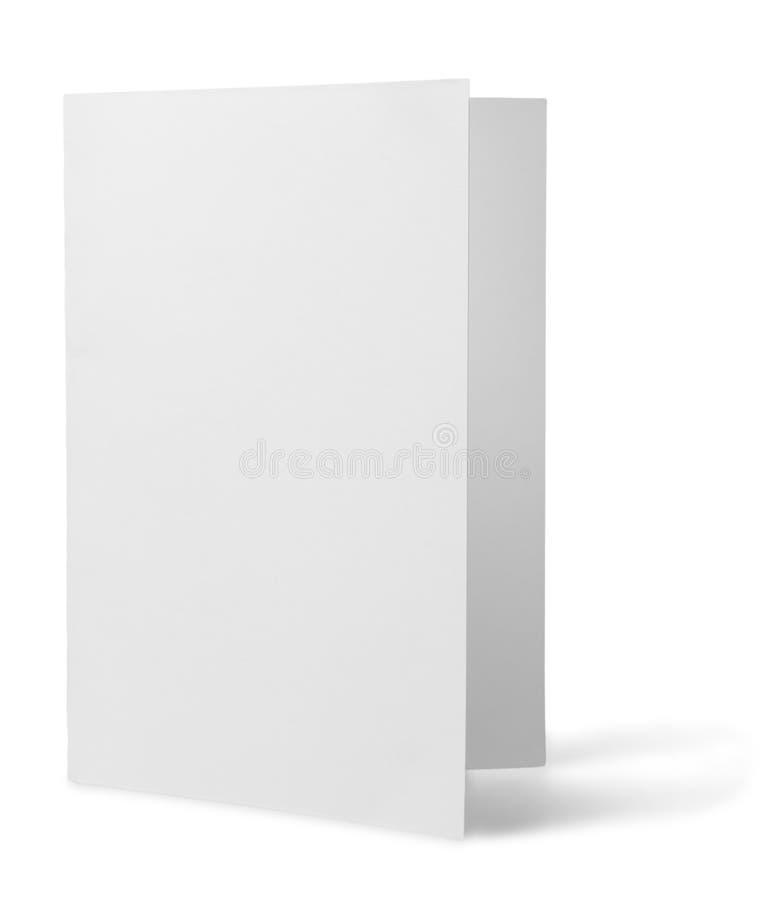 Anule o cartão dobrado, no branco ilustração royalty free