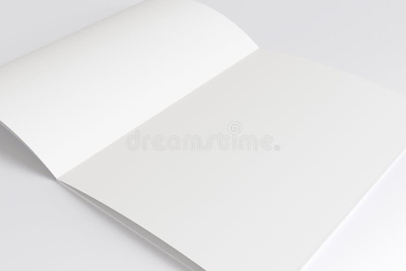 Anule o compartimento aberto isolado no branco ilustração stock