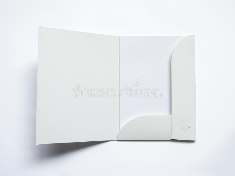 Anule o dobrador aberto no branco imagens de stock