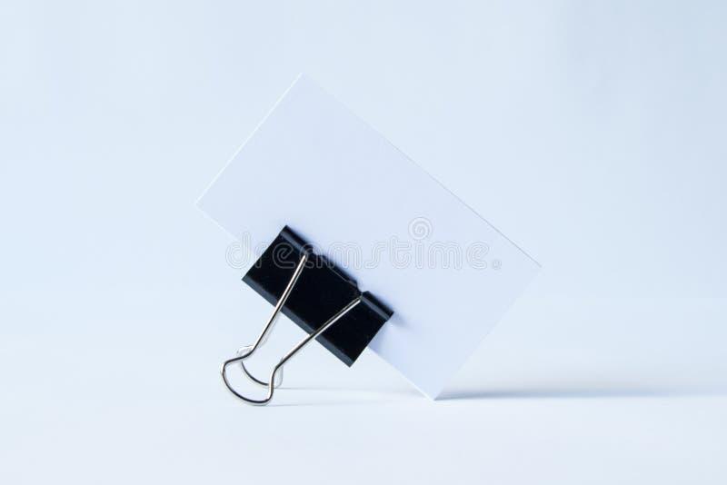Anule o dobrador aberto no branco fotografia de stock royalty free