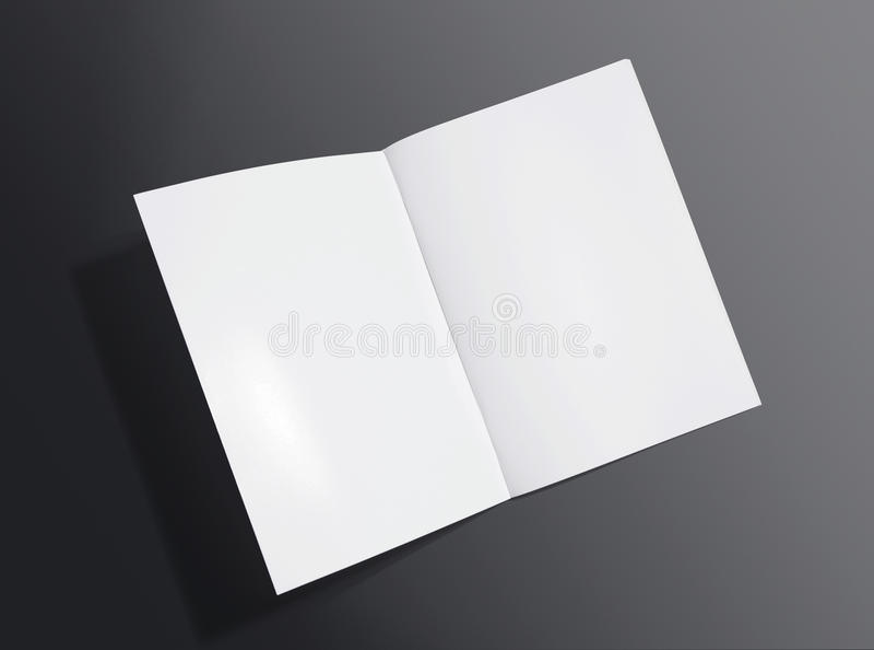 Anule o folheto aberto no fundo escuro foto de stock