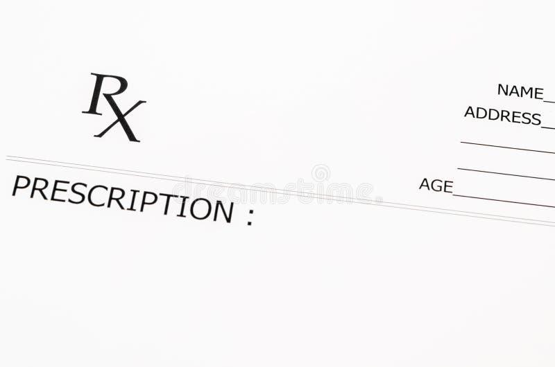 Anule o formulário da prescrição fotos de stock