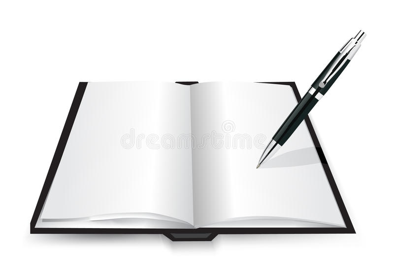 Anule o livro aberto ilustração stock