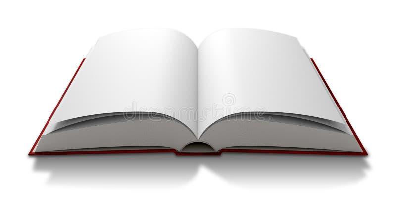 Anule o livro paginado aberto ilustração stock