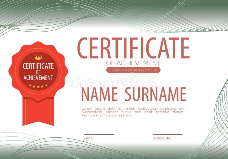 Anule o molde certificado da beira ilustração royalty free