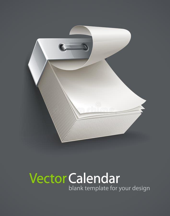 Anule tear-off o calendário de papel ilustração royalty free