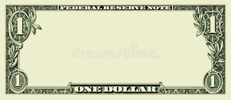 Anule uma nota de dólar ilustração royalty free
