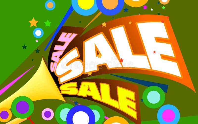 Anunciação da venda ilustração royalty free