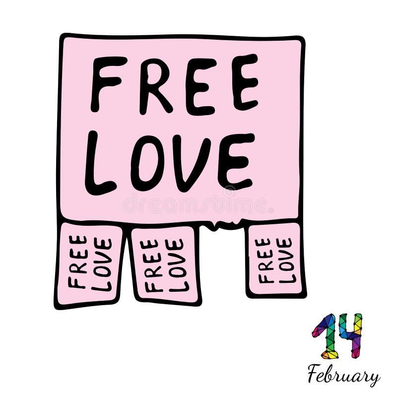 anunciación de amor libre ilustración del vector