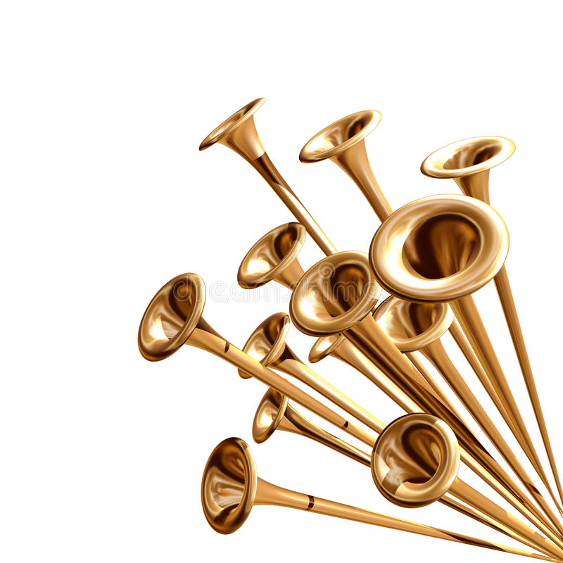 Anunciación de las trompetas ilustración del vector