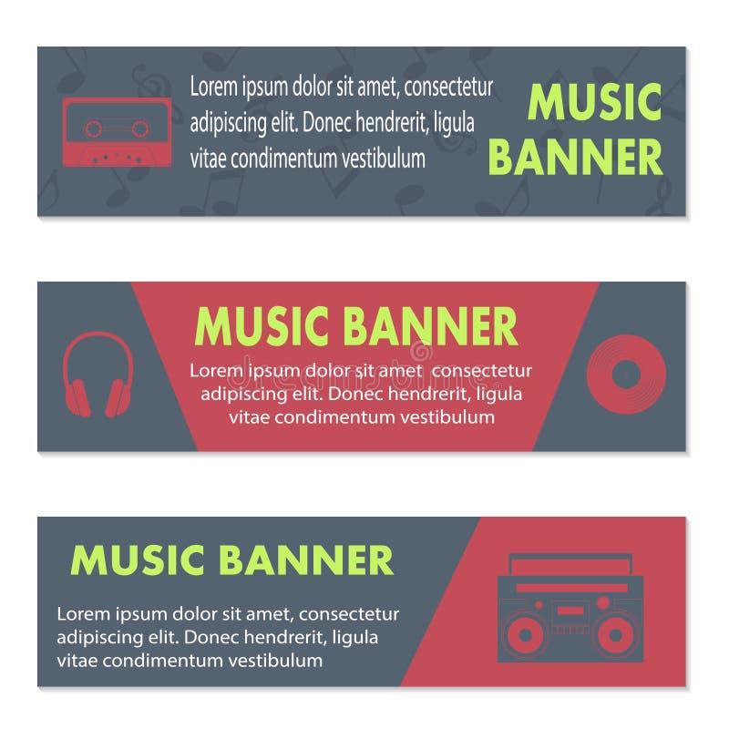 Anunciando bandeiras musicais ilustração do vetor