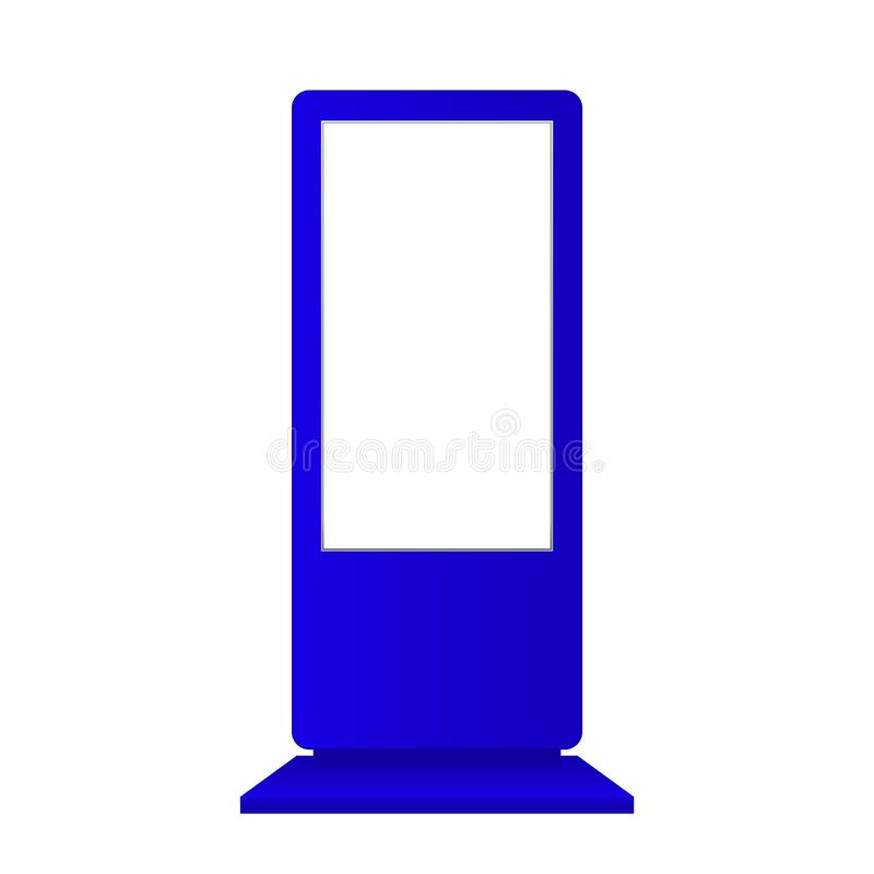 Anunciando o modelo digital do signage isolado no fundo branco Molde do suporte dos multimédios Suporte Bann da probabilidade de  ilustração stock