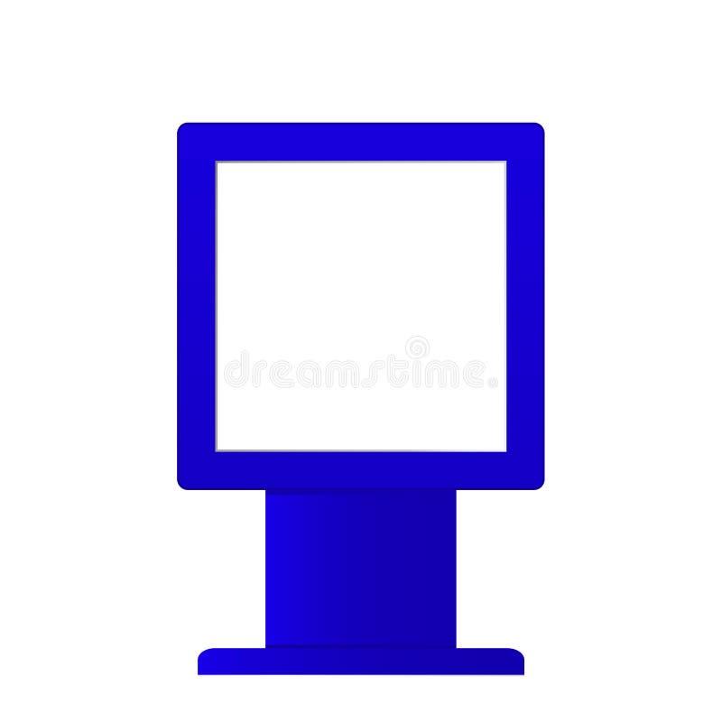 Anunciando o modelo digital do signage isolado no fundo branco Molde do suporte dos multimédios Suporte Bann da probabilidade de  ilustração royalty free