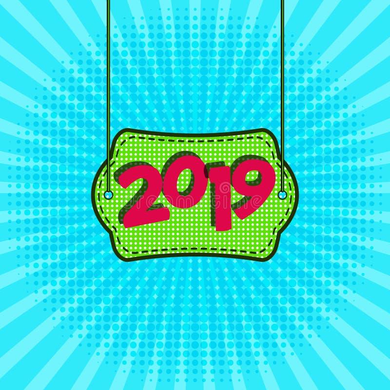 Anunciando o molde do cartaz do ano novo s para seu projeto ilustração do vetor