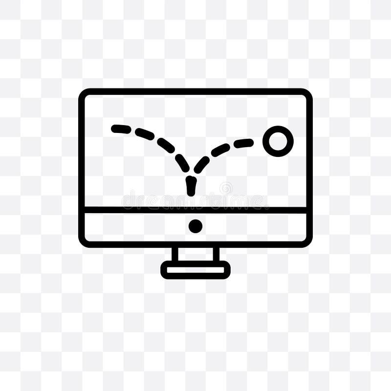 anunciar o ícone linear do vetor do salto isolado no fundo transparente, anunciando o conceito da transparência do salto pode ser ilustração royalty free