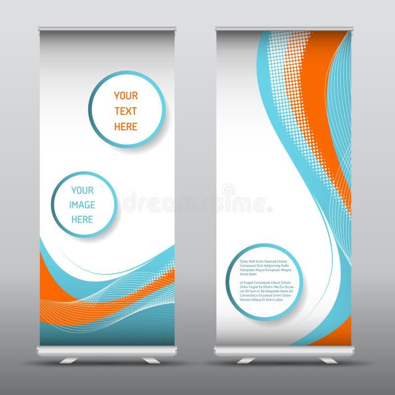 Anunciar rola acima bandeiras com projeto abstrato ilustração royalty free