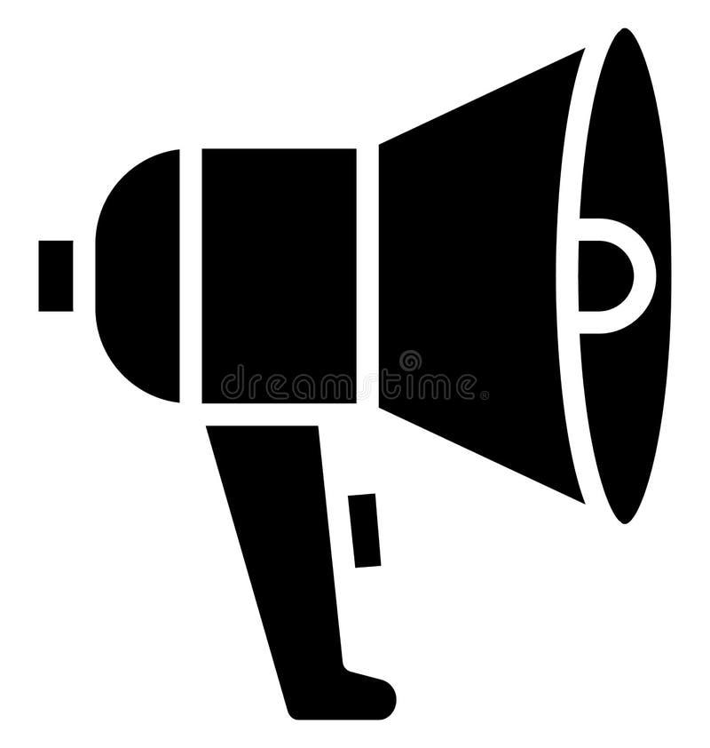 Anuncie, el icono aislado megáfono del vector que puede ser muy fácilmente corregir o se modificó Anuncie, el icono aislado megáf ilustración del vector