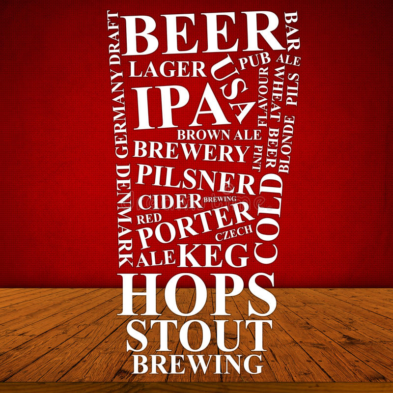 Anuncio de la cerveza fotografía de archivo