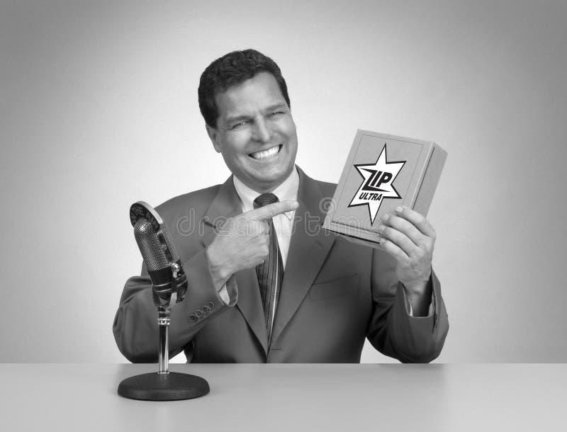Anuncio de televisión retro foto de archivo libre de regalías